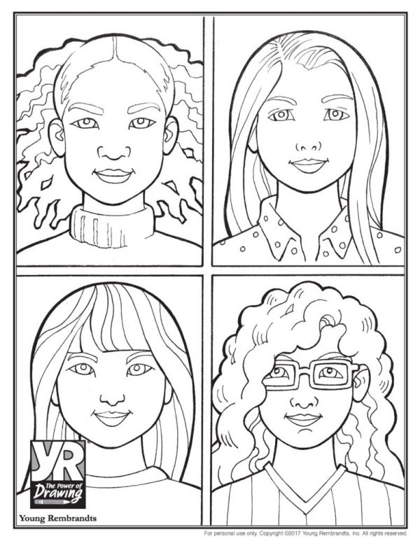 All Kinds of Beautiful Coloring Page
