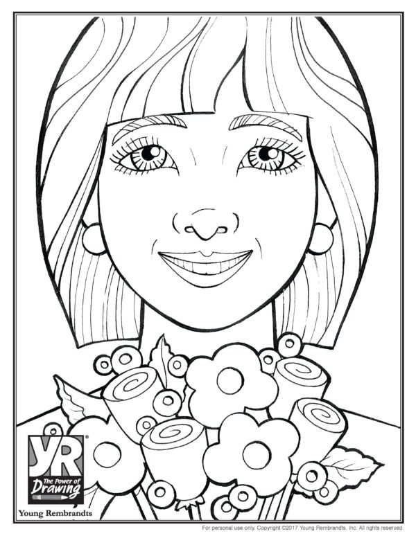 Amelia Coloring Page