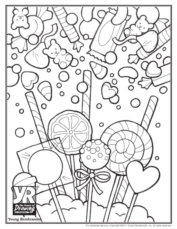 58 Top Coloring Pages Candy Pictures