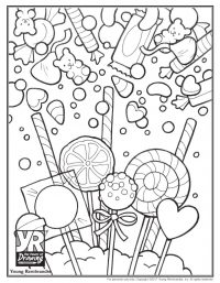Candy Coloring Page