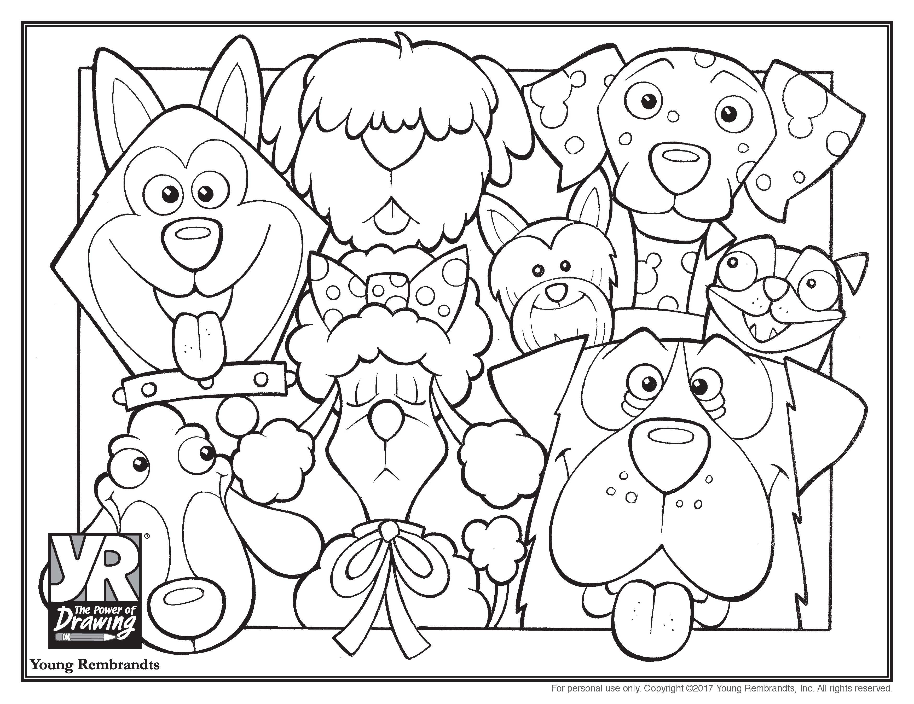 Dogs Coloring Page