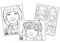 Faces Coloring Page Bundle