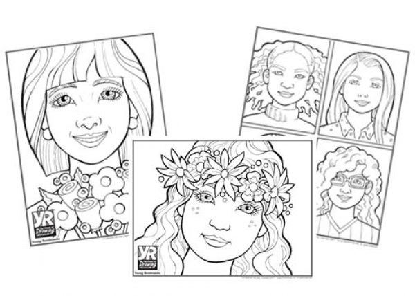 Faces and Flowers Bundle Coloring Pages