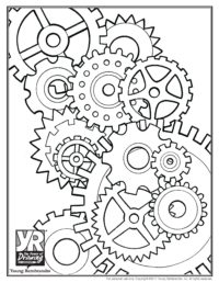 Gears Coloring Page