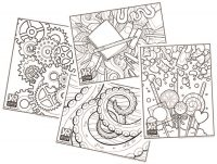 Patterns & Graphics Coloring Page Bundle