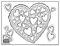 Heart Cluster Coloring Page
