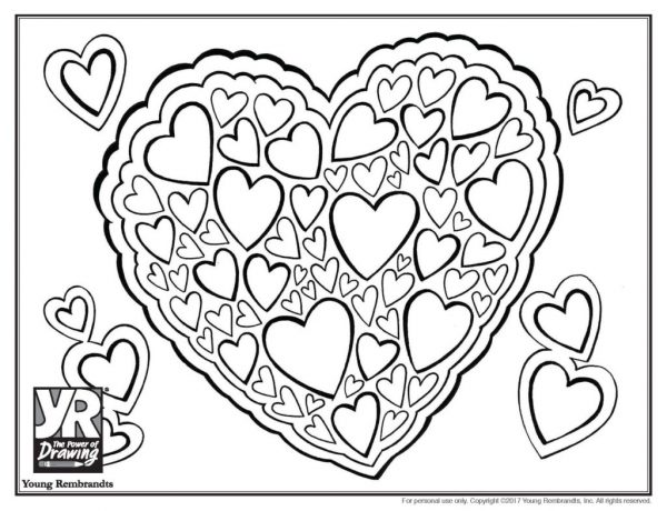 Heartcluster-coloringpage-BW