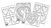 Hearts Coloring Page Bundle