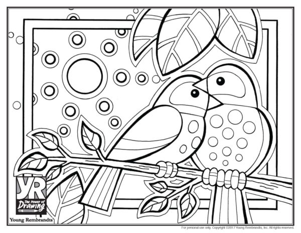 Birds Coloring Page Young Rembrandts Shoprhyoungrembrandtsshop: Birds To Coloring Pages At Baymontmadison.com