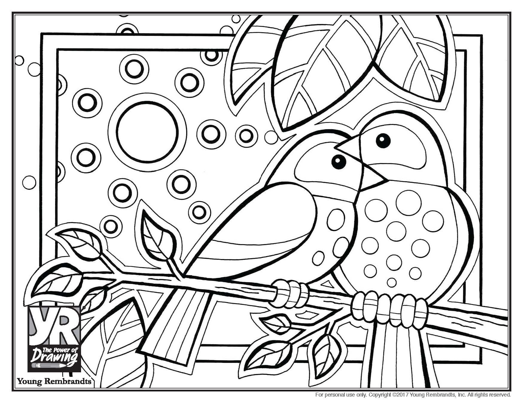 bird coloring pages rspb shop - photo#15