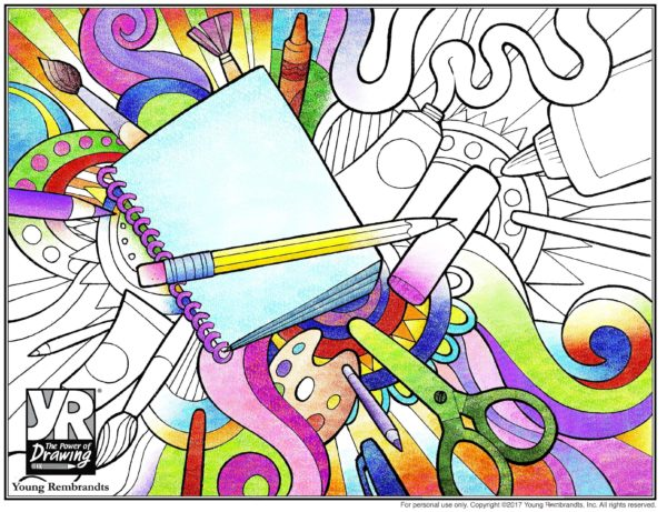 Art Supplies Coloring Page