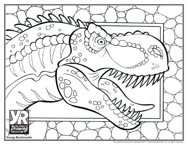 trex-coloringpage-BW