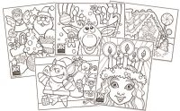 Christmas Coloring Page Bundle