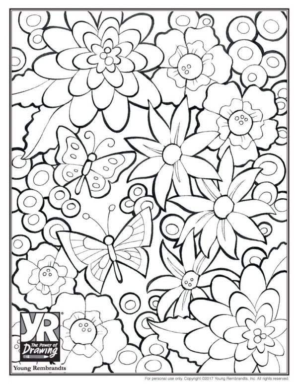 flowers-coloringpage-BW