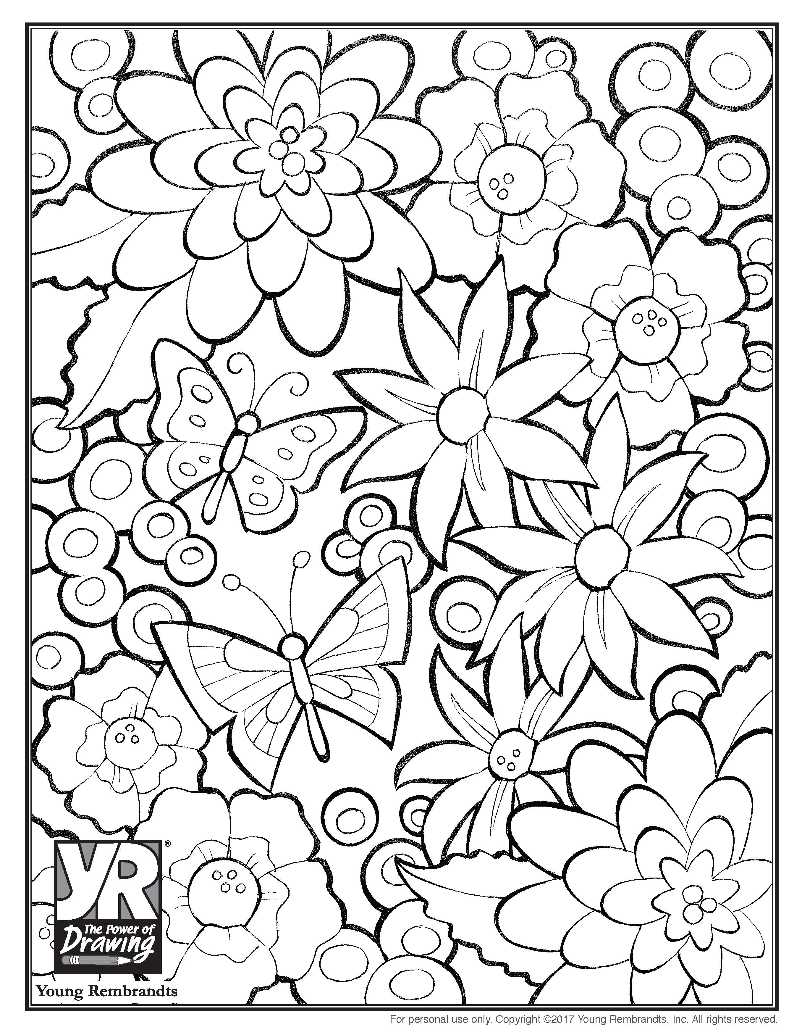 flowers coloringpage BW