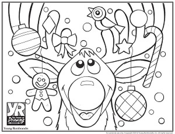 reindeer-coloringpage-BW