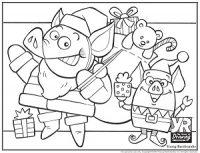 Santa Pig Coloring Page