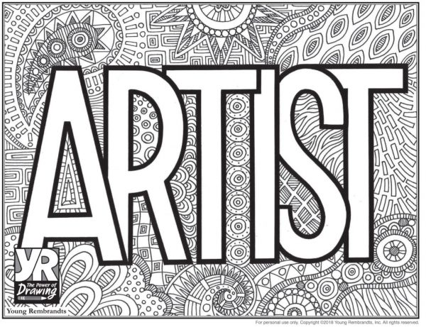 Artist-coloringpage-BW
