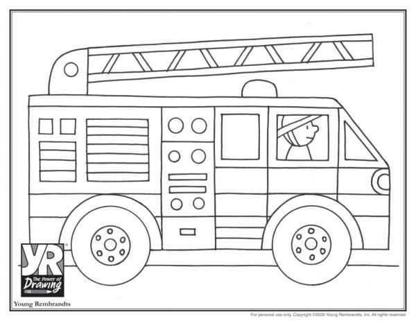 Firetruck-coloringpage-BW