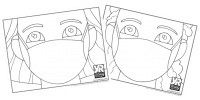 Girls with Masks Coloring Page Bundle