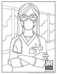 Healthcare Worker Coloring Page