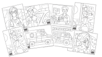 Heroes Coloring Page Bundle