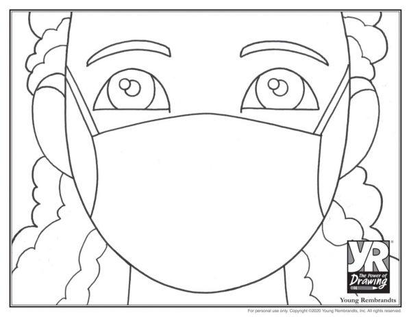 Julia mask-coloringpage-BW