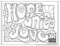 Powerful Words Coloring Page