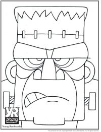 Frankenstein's Monster Coloring Page