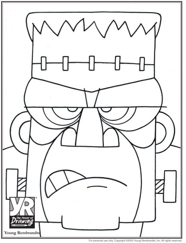 Frankenstein-coloringpages-BW
